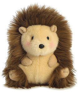 Merry Hedgehog Rolly Pets Stuffed Animal by Aurora World (Front View)