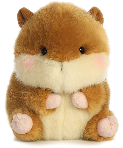 Romper Chipmunk Rolly Pets Stuffed Animal by Aurora World (Front View)