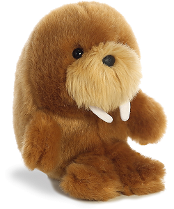 Waldo Walrus Rolly Pets Stuffed Animal by Aurora World (Rotated View)