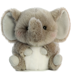Trumpeter Elephant Rolly Pets Stuffed Animal by Aurora World (Front)