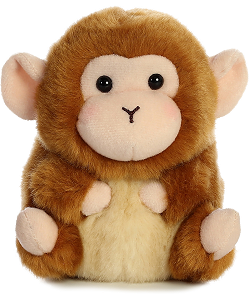 Mischief Monkey Rolly Pets Stuffed Animal by Aurora World (Front)