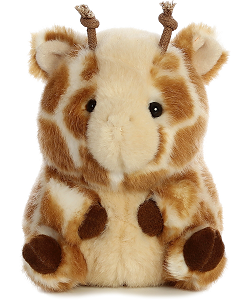Giminy Giraffe Rolly Pets Stuffed Animal by Aurora World (Front)