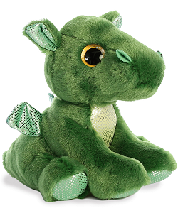 Rumble Green Dragon Sparkle Tales Stuffed Animal by Aurora