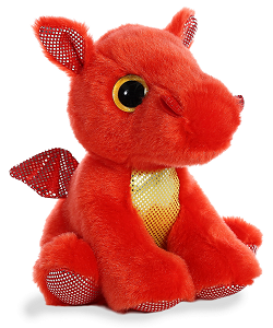 Flame Red Dragon Sparkle Tales Stuffed Animal by Aurora