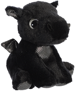 Rogue Black Dragon Sparkle Tales Stuffed Animal by Aurora