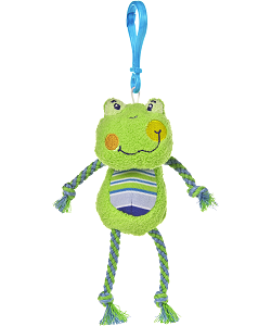 Cheery Clips Frog Backpack Clip Stuffed Animal by Mary Meyer