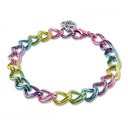 CHARM IT! Rainbow Double Link Charm Bracelet