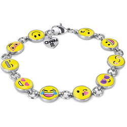 CHARM IT! Emoji Charm Bracelet by High IntenCity