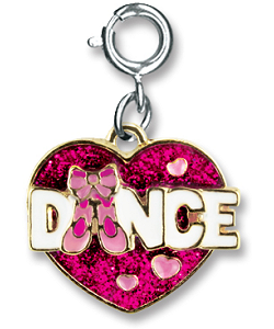 CHARM IT! Ballet Dance Glitter Heart Charm