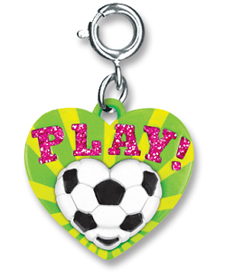 CHARM IT! Play! Soccer Heart Charm by High IntenCity
