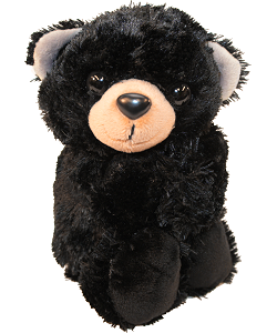 Black Bear Huggers Stuffed Animal by Wild Republic (Arms Closed)