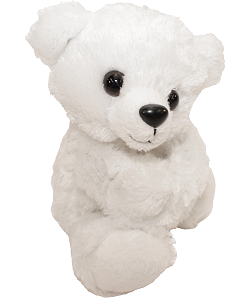 Polar Bear CK Huggers Stuffed Animal by Wild Republic (Arms Closed)