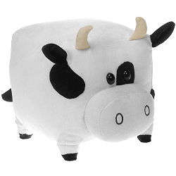 Square Cow (Small) The New Round Plush Animal by Fiesta