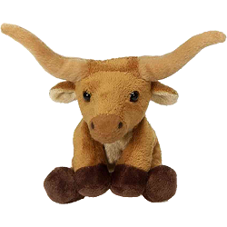 Longhorn Bull Lil Buddies (Small) Plush Animal by Fiesta
