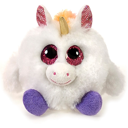 Sunshine Unicorn Lubby Cubbies Stuffed Animal by Fiesta