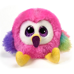 Twiggy Flamingo Lubby Cubbies Stuffed Animal by Fiesta