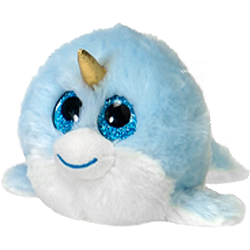 Magic Narwhal Lubby Cubbies Stuffed Animal by Fiesta