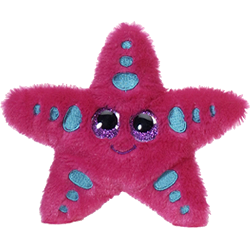 Sandy Starfish Lubby Cubbies Stuffed Animal by Fiesta