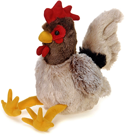 Sitting Rooster Stuffed Animal by Fiesta