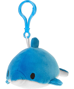 Dolphin Lil' Huggy Plush Backpack Clip Stuffed Animal by Fiesta