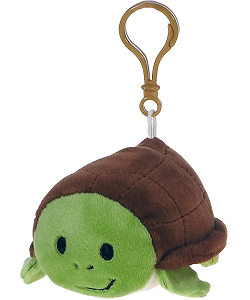 Sea Turtle Lil' Huggy Plush Backpack Clip Stuffed Animal by Fiesta