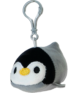 Penguin Lil' Huggy Plush Backpack Clip Stuffed Animal by Fiesta