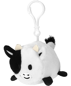 Cow Lil' Huggy Plush Backpack Clip Stuffed Animal by Fiesta