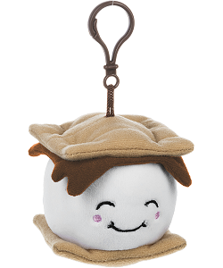 Love You S'more Plush Backpack Clip by Ganz