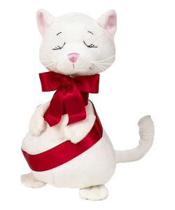 Tangled Cat with Ribbon Stuffed Animal by Ganz