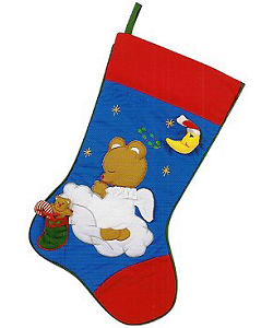 Angel Bear Christmas Stocking