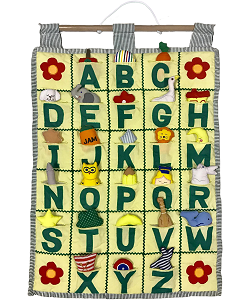 ABC Wall Hanging (Yellow) by Kubla Craft