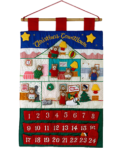 Teddy Bear Christmas Countdown Advent Calendar