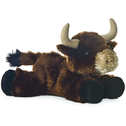 Toro Bull (Brown) Mini Flopsies Stuffed Animal by Aurora World