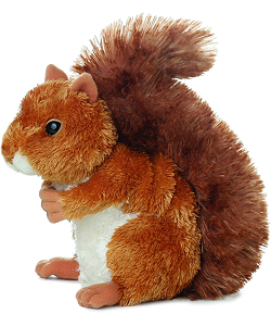 Nutsie Squirrel Mini Flopsies Stuffed Animal by Aurora World