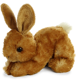 Bitty Bunny Mini Flopsies Stuffed Animal (Crouched)