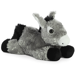 Donkey Mini Flopsies Stuffed Animal by Aurora World