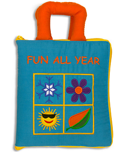 Fun All Year Quiet Book Cloth Activity Book (Closed)