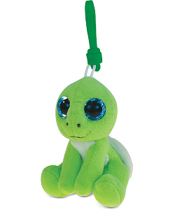 Turtle (Green) Big Eyes Plush Backpack Clip Stuffed Animal by Puzzled