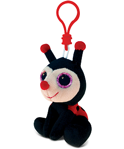Ladybug Big Eyes Plush Backpack Clip Stuffed Animal by Puzzled