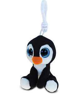 Penguin Big Eyes Plush Backpack Clip Stuffed Animal by Puzzled