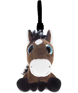 Horse Big Eyes Plush Backpack Clip Stuffed Animal by Puzzled
