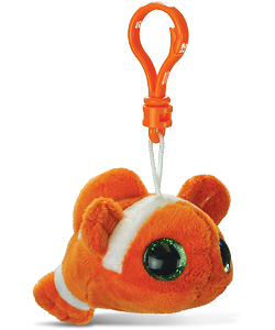 Clown Fish Big Eyes Plush Backpack Clip Stuffed Animal (Rotated)