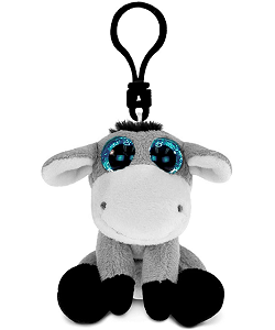 Donkey Big Eyes Plush Backpack Clip Stuffed Animal by Puzzled