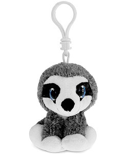 Sloth Big Eyes Plush Backpack Clip Stuffed Animal by Puzzled