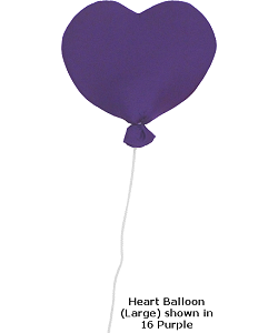 Heart Balloon (Large) Fabric Wall Art shown in #16 Purple