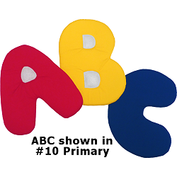ABC Fabric Wall Art shown in #10 Primary