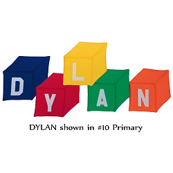 Fabric Wall Art: Building Blocks DYLAN in #10 Primary