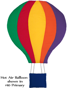 Hot Air Balloon Fabric Wall Art shown in #10 Primary