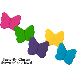 Butterfly Cluster Fabric Wall Art shown in #50 Jewel