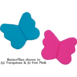 Butterfly Fabric Wall Art shown in 53 Turquoise & 51 Hot Pink
